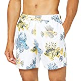 Original Penguin Fish Volley Short, Blanco (Bright White 118), Small para Hombre