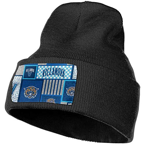 shenguang Villanova University Womens Mens Knit Hat Beanie Hat Ski Hat Slouchy Winter Knit Hat Warm Beanie Black