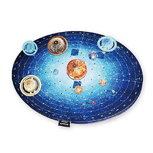 Globo mapa del mundo 3d Puzzle de papel modelo astronomía Aprendizaje juguetes para niños educativo DIY Tierra Cognición Puzzles para niños, multicolor