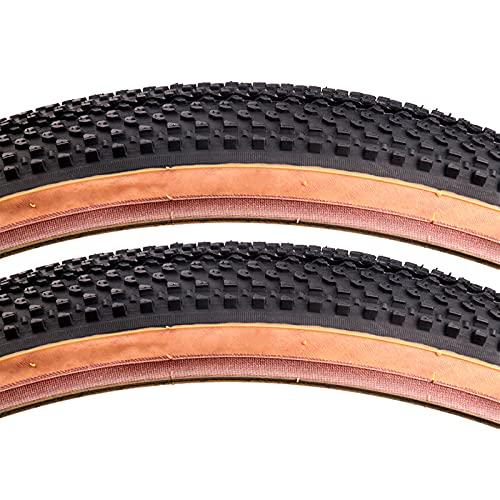 FYYTRL Neumático de Repuesto para Bicicleta de montaña, neumático General, Negro, Apto para Bicicletas de montaña y de Carretera (2 neumáticos),27.5 * 2.1