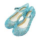 Holibanna Princesa Jelly Shoes para niñas Sandalias para niños Cute Kids Mary Jane Shoes Glitter Wedge para Dance Party Cosplay 15.9cm