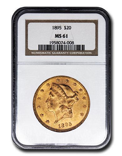 1895 No Mint Mark Liberty Head Twenty Dollar NGC MS-61
