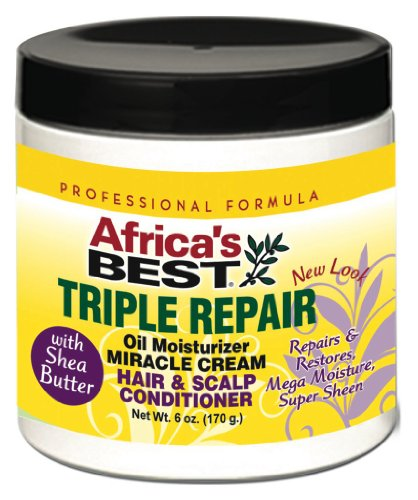 Africa's Best Triple réparation Huile hydratant Cheveux et cuir chevelu Après-shampooing 180 ml (lot de 2)