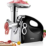 Electric Meat Grinder,Multifunction Meat Mincer & Sausage Stuffer,1200W Max with 3 Grinding Plates, Sausage & Kubbe Kits Included,ETL Approved, Easy to Clean