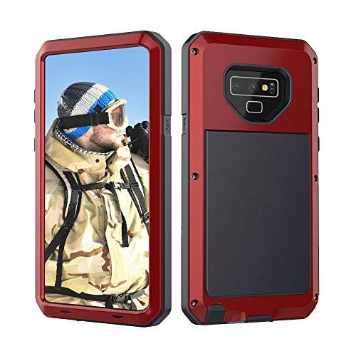 Beeasy Funda Samsung Galaxy Note 9,Antigolpes Rígida Robusta Antigravedad Carcasa Resistente al Impacto Militar Duradera Blindada Fuerte de Seguridad al Aire Libre Case Cover,Rojo