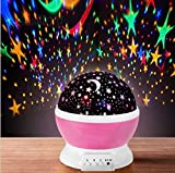 Florastic Kids Night Light Toys for 2-8 Year Old Girls Gifts, Moon Star Projector Light for Kids, 360 Degree Rotation and 8 Color Light Changing, Best Gifts for Old Girls Birthday (Multicolor)