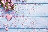 Fondo de Madera para fotografía Tablón de Flores de Primavera Tablero de pétalos Pet Child Digital Photo Studio Props Fondos fotográficos A10 10x10ft / 3x3m