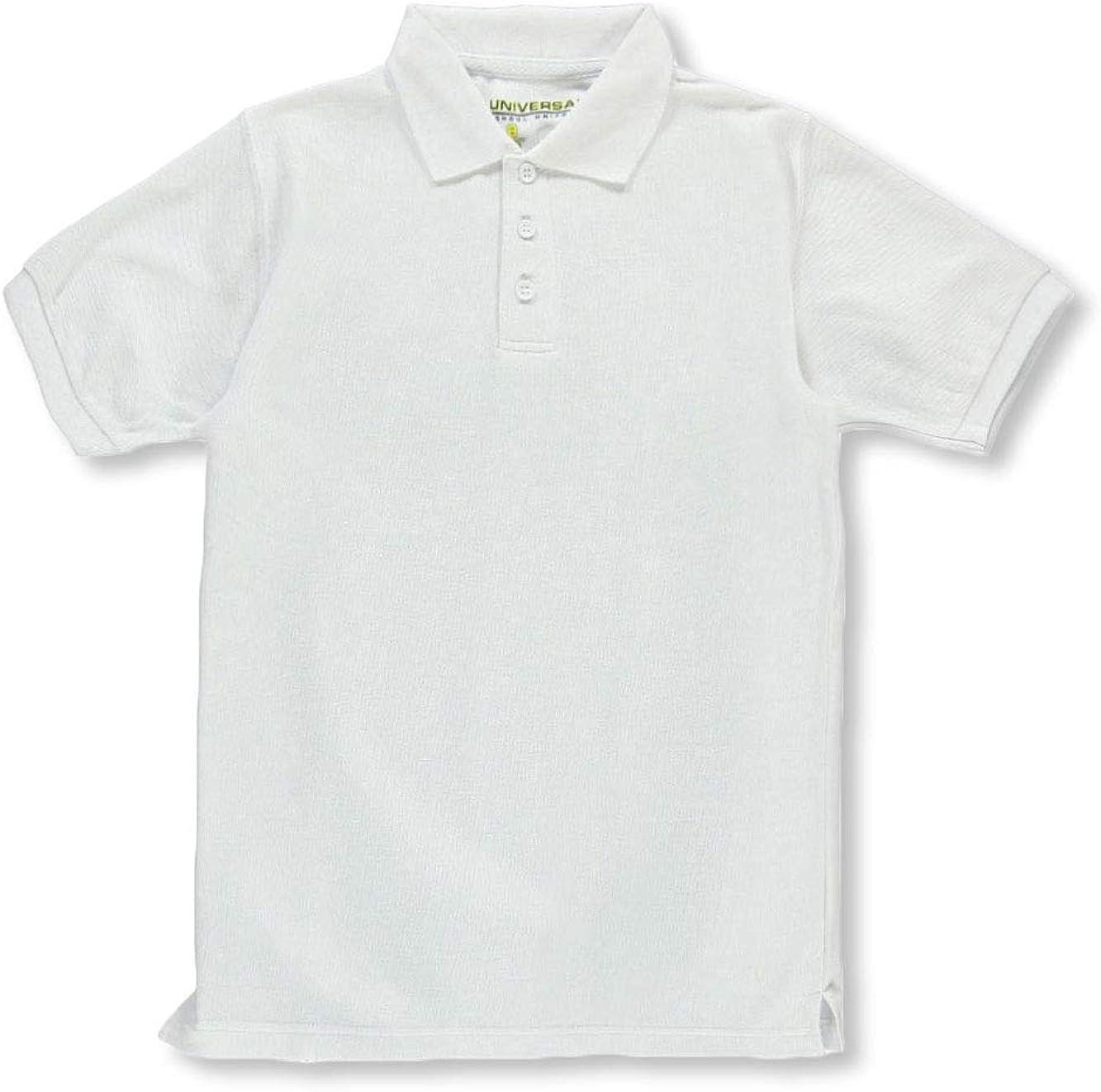 Universal Unisex S/S Pique Polo - White, 14