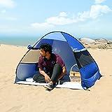 Wolfwise Tienda de Campaña Instantánea,Para Playa Camping Familia,Protección UV Sol,Azul