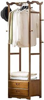 LM-Coat rack Porte Manteau Vestiaire Porte Manteaux, avec tiroir Multifonction Porte Manteau Armoire, Cintres au Sol, Bamb...