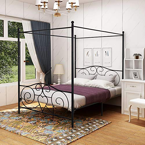 canopy bed with drawers