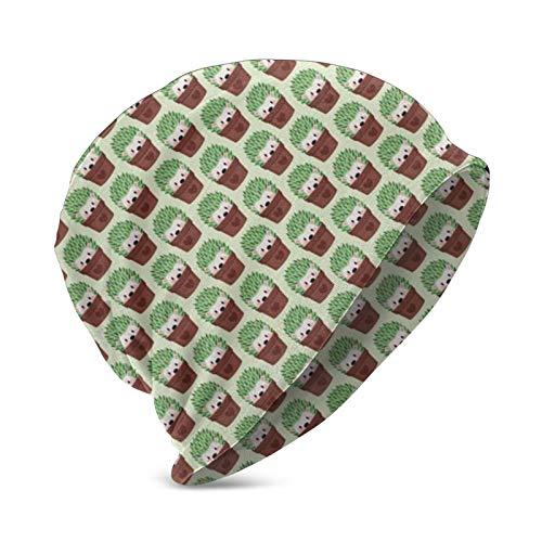 Erizos ms pequeos disfrazados de Cactus Beanie Hat para Mujeres y Hombres - Sombreros de Punto clido de Invierno Unisex Liso