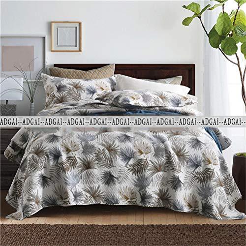 Piqué quilt voor het bed materiaal 100% Katoen sprei Made drukkerij 230 * 250cm + 50 * 70cmx2 voor bed 150 of 135 Reversible