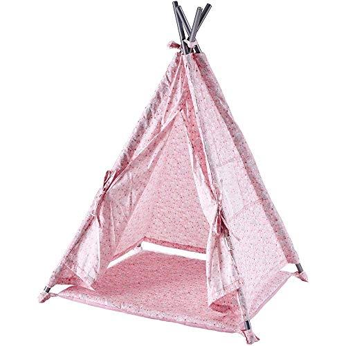 Käthe Kruse 0155150 Puppen Zelt mit Decke, rosa