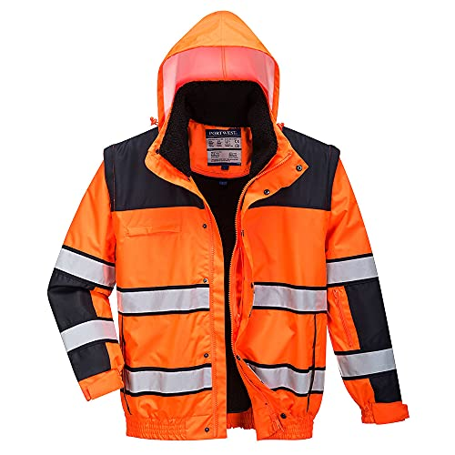 4-in-1 chaqueta impermeable chaqueta de invierno chaqueta de trabajo amarillo o naranja