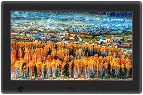 7 Zoll Digitaler Bilderrahmen, Widescreen 1024x600 Hohe Auflösung Full HD LCD Farbdisplay, Musik/Video Player/Kalender/Alarm,Menschlicher Körper Induktion,mit Fernbedienung