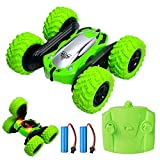 Saibit Remote Control Car, Wall Climbing Cars Dual Modes 360°Rotation Stunt RC Cars Vehicles Toys, Kids Toy Cars for Boys & Girls Birthday (Green)