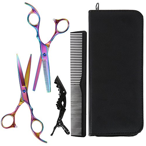 Hair Cutting Scissors Set-Lictin Professional Hair Scissors 6.0 Inch Sharp Blades Shears Kit with Cutting Scissors & Hair Thinning Scissors Best for Hairdressing Salon and Home Use