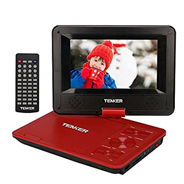 TENKER Portable DVD Player (7.5, Red)