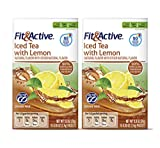 Fit & Active Iced Tea with Lemon Low Cal Sugar Free On-the-Go Drink Mix Sticks - 2 Pk (20 Sticks)