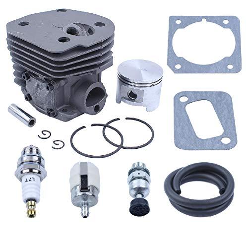 Nikasil Cylinder Piston Kit 45mm Big Bore Fit Husqvarna 353 351 350 346XP EPA 345 340 Chainsaw Decompression Valve Fuel Filter