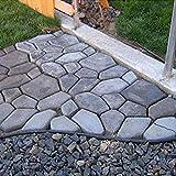 Pavimento de pavimento moldeado de plstico Molde reutilizable para cemento de hormign Pavimento de diseo de pavimento Garden Walk Maker/Negro
