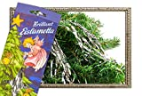 Helmecke & Hoffmann * 10 Gramm Stanniol-Lametta Eislametta Staniol Baumdeko Baumbehang Christbaumschmuck (Silber) -