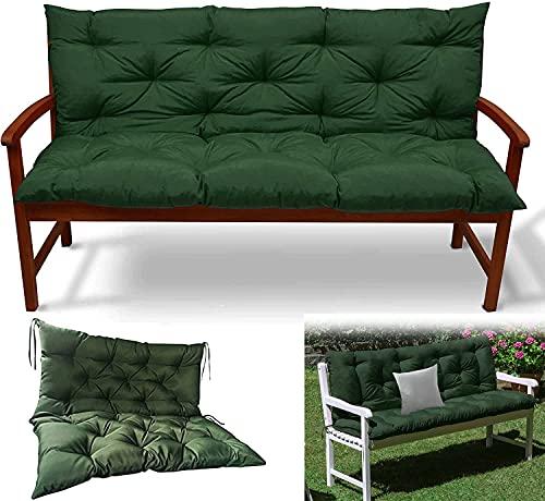 Schienale per cuscino da panca impermeabile da giardino con cuscino, cuscini per cuscino da esterno di ricambio, tappetino per panca a 2 o 3 posti morbido e spesso per sdraio da giardino per inter