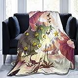 Suzanne Betty - Manta de franela mullida para habitación de bebé, decoración de cama, decoración de cama de matrimonio, tamaño reina, tamaño King, suave y acogedor