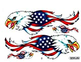 """""""5 Sheets"""" Bald Eagle USA United States of America Flag Sticker Car Racing Motocross Decal Motorcycle Truck Graphic Hawk Falcon Logo Bicycle Bike Stickers"""