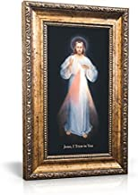 St Joseph Communications Divine Mercy (Vilnius) - Framed Canvas 6 x 11 (Including frame: 9.5 x 14.5)