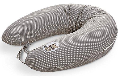 sei Design® Coussin allaitement pour allaitement Coussin de sei Design 170 x 30 cm avec fermeture Éclair et broderie de qualité, 100% coton