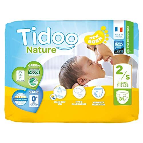 Tidoo 503792 Lot de 31 couches T2 mini 3 6 kg Unisexe