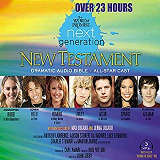The Word of Promise Next Generation Audio Bible     ICB              By:                                                                                                                                 Thomas Nelson Inc.                               Narrated by:                                                                                                                                 Marshall Luke Allman,                                                                                        Tahj Astin,                                                                                        Emily Benward,                   and others                 Length: 24 hrs and 45 mins     1 rating     Overall 5.0