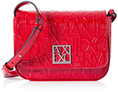 Armani Exchange Borsa donna small shoulder multi Logo pu RED BS20AX34