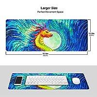 中国竜 龍 油絵 マウスパッド キーボードパッド 滑らかマウスパッド ゲーミングパッド 大型 オフィス 家庭用