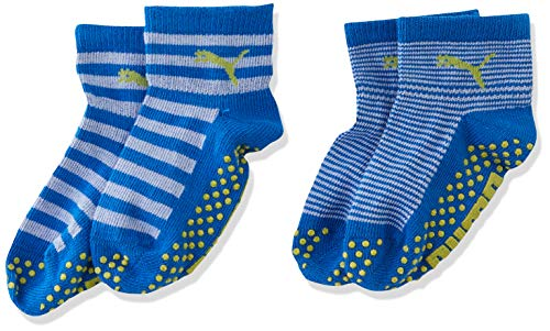 PUMA Kinder Baby Sock ABS 2P , Blue Green Combo 634 , 19-22