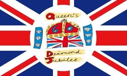 Queen Elizabeth II Diamond Jubilee Offizielles 5'x3' Flagge