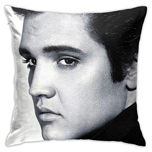 Elvis-Presley - Funda de cojín para sofá, dormitorio, decoración de 45,72 x 45,72 cm