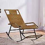 Natural Rattan Larga Un Ajuste cómodo Salón de los Asientos, Relax sillones reclinables con apoyabrazos y el Pedal, Traje de balcón, Patio de la Sala Etc,D