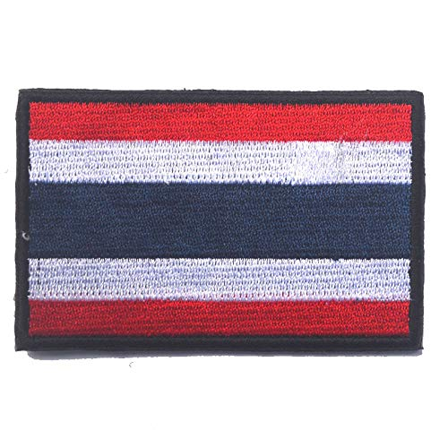 Thailand Thaise vlag geborduurd Airsoft Paintball Cosplay patch