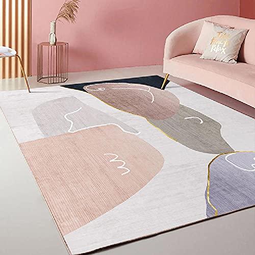 La Alfombra Alfombra Fina Alfombra geométrica púrpura Rosa fácil de Limpiar la Sala de Estar alfombras Dormitorio alfombras para escaleras 200*300cm