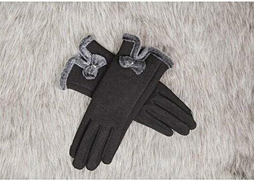 Black Women Winter Warmer Touch Screen Gloves Full Finger Bowknot Mittens Newest