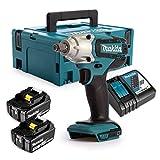 Makita DTW190RFj - Atornillador de impacto a batería (18 V, iones de litio, 3 Ah, 190 Nm, incluye...