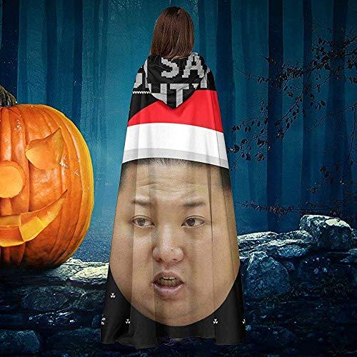 Not Applicable Capa De Mago,Navidad Kim Jong Un Naughty List Disfraces Premium De Mago De Brujas para La Reunin De Amigos De La Familia 40x150cm