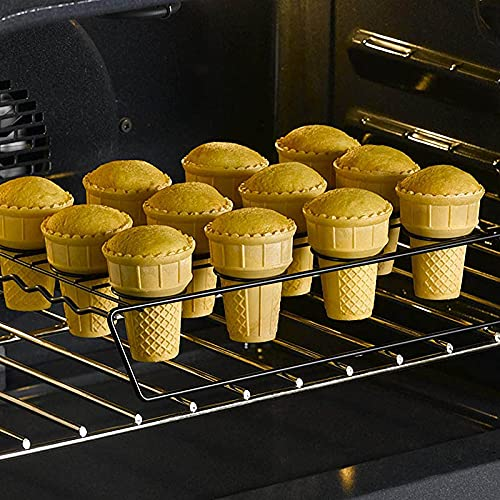 Chuanhao Cupcake Cone Baking Rack 12/16 Ice Cream Cone Holder Stand Cake Pastry Tray