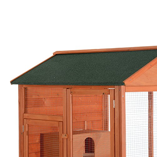 PawHut 71' Extra Large Wooden Outdoor Aviary...