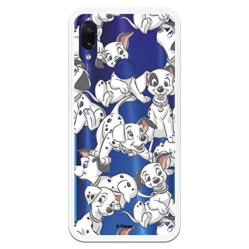 Funda para Xiaomi Redmi Note 7-Note 7 Pro Oficial de 101 Dálmatas Cachorros Siluetas para Proteger tu móvil. Carcasa para Xiaomi de Silicona Flexible con Licencia Oficial de Disney.