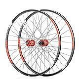 Juego de ruedas NYK KOOZER XF2046 26 27.5 650B 29' Disco de bicicleta de montaña M TB Rueda de carretera 32H (negro y rojo, 26')