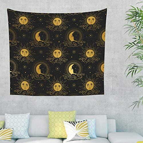 Xuanwuyi Moon Sun Tapiz de sofá para decoración de dormitorio...